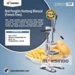 Jual Alat Pengiris Kentang Manual (french fries) di Makassar