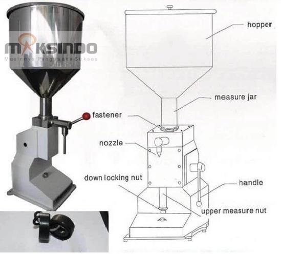Mesin-Manual-Filling-Cairan-Pasta-MKS-MF10