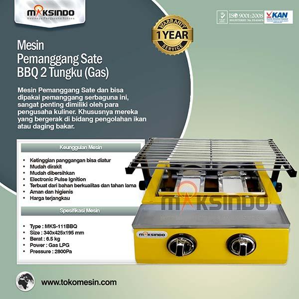 mesin-pemanggang-sate-bbq-2-tungku-gas-mks-111bbq