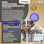 Jual Mesin Ayakan Tepung Stainless Berkualitas di Makassar