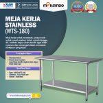 Jual Meja Kerja Stainless (WTS-180) di Makassar
