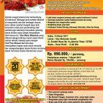 Training Praktis Lengkap Sambal dan Sauce di Condet, 18 Maret 2017