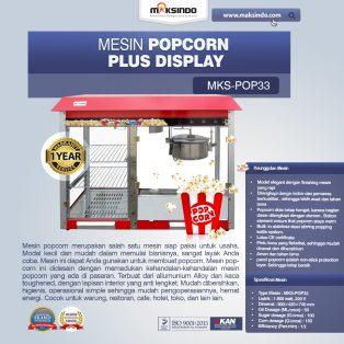Jual Mesin Popcorn Plus Display (POP33) di Makassar