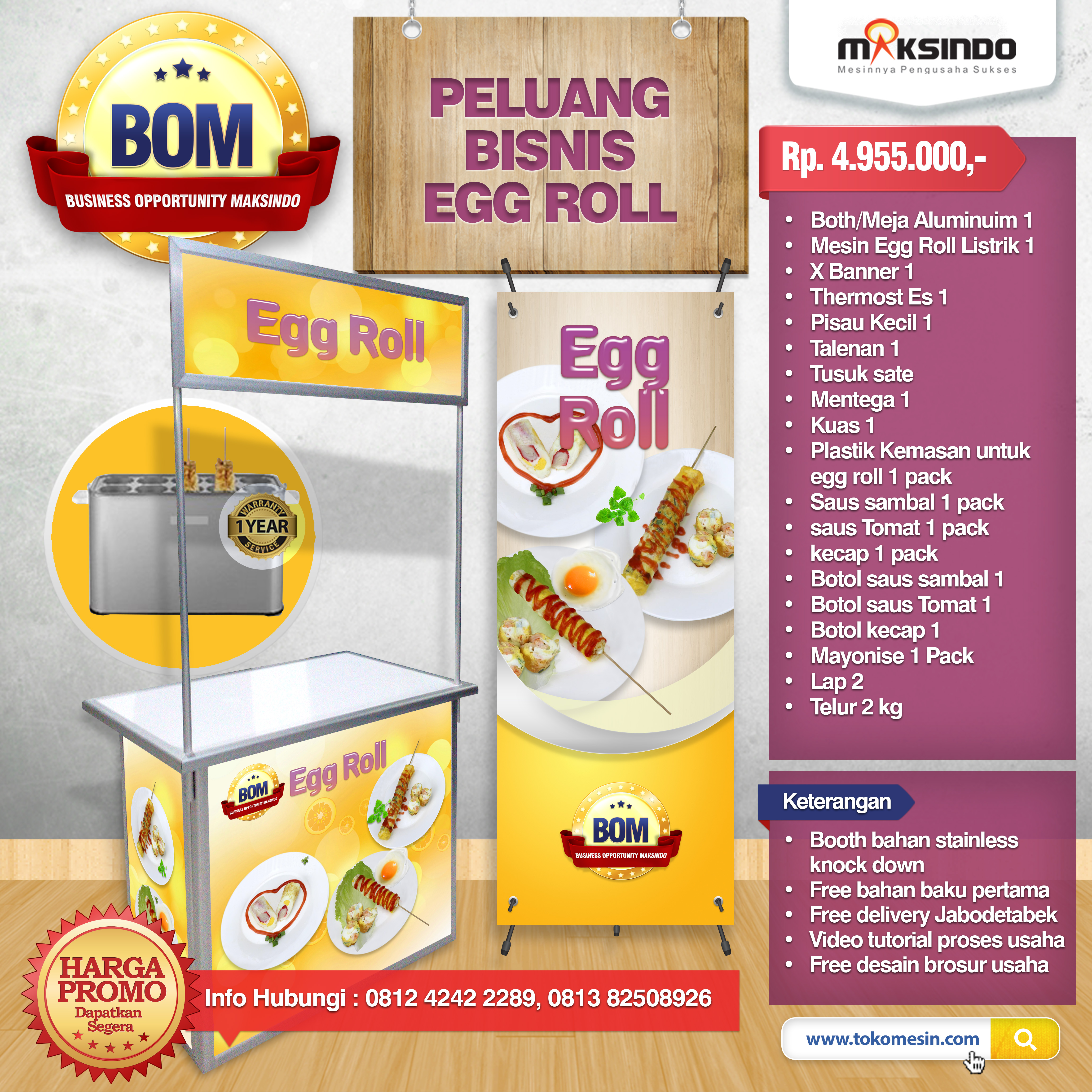 mock up DESIGN egg roll listrik