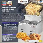 Jual Mesin Gas Fryer 12 Liter 2 Tank (MKS-72B) di Makassar