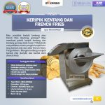 Jual Mesin Keripik Kentang dan French Fries KRP650 di Makassar