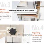 Jual Bonesaw Pemotong Daging Beku (MKS-BSW210) di Makassar