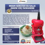 Jual Mesin Serutan Es Salju (Snow Ice) Taiwanese di Makassar