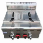 Jual Counter Top 2-Tank 2-Basket Gas Fryer di Makassar