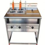 Jual Gas Pasta Cooker With Bain Marie (4 Baskets) MKS-PCBM4 di Makassar
