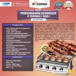 Jual Pemanggang BBQ Stainless (gas) 6 Tungku di Makassar