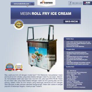 Jual Mesin Roll Fry Ice Cream (RIC36) di Makassar