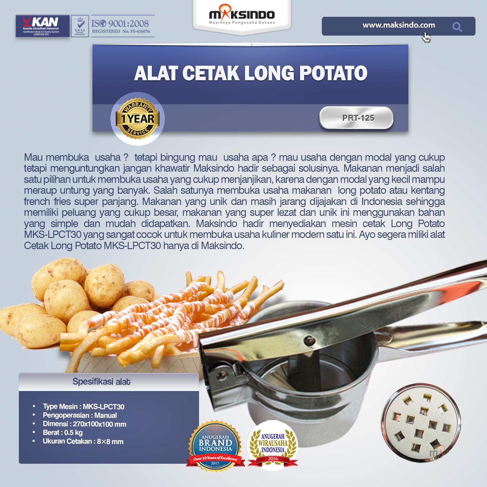 Jual Alat Cetak Long Potato MKS-LPCT30 di Makassar