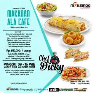 Training Usaha  Makanan Ala Cafe 14 Oktober 2018