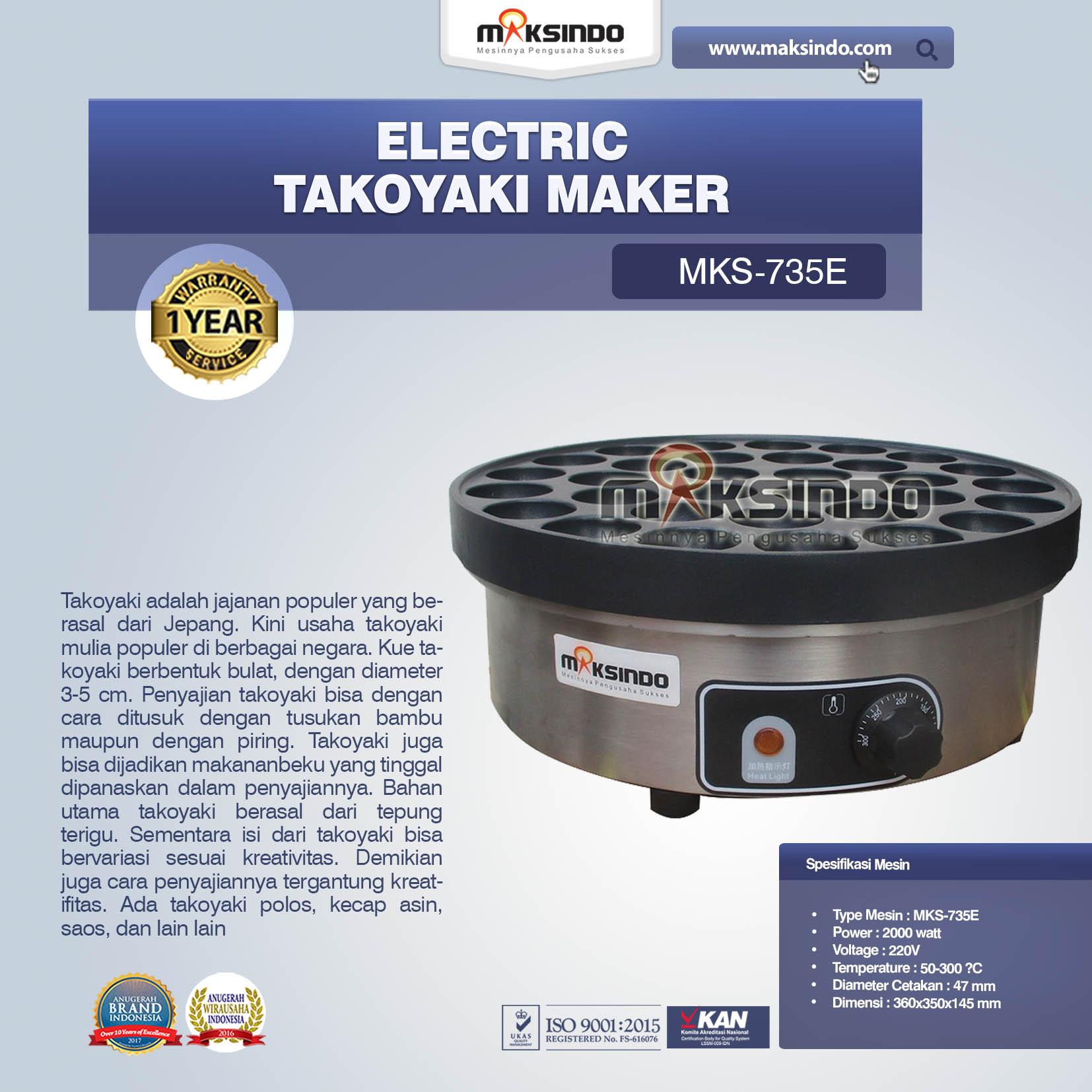 Jual Electric Takoyaki Maker MKS-735E di Makassar