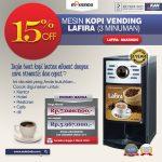 Jual Mesin Kopi Vending LAFIRA (3 Minuman) di Makassar