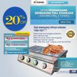 Jual Pemanggang Serbaguna – Gas BBQ Grill 4 Tungku di Makassar