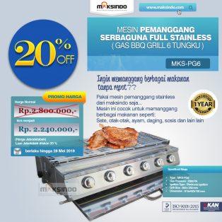 Jual Pemanggang Serbaguna – Gas BBQ Grill 6 Tungku di Makassar