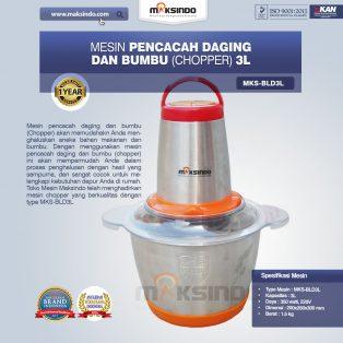Jual Mesin Pencacah Daging dan Bumbu MKS-BLD3L di Makassar
