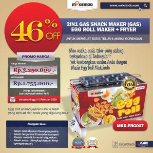 Jual Mesin Egg Roll Gas 2in1 Plus Fryer ERG007 di Makassar