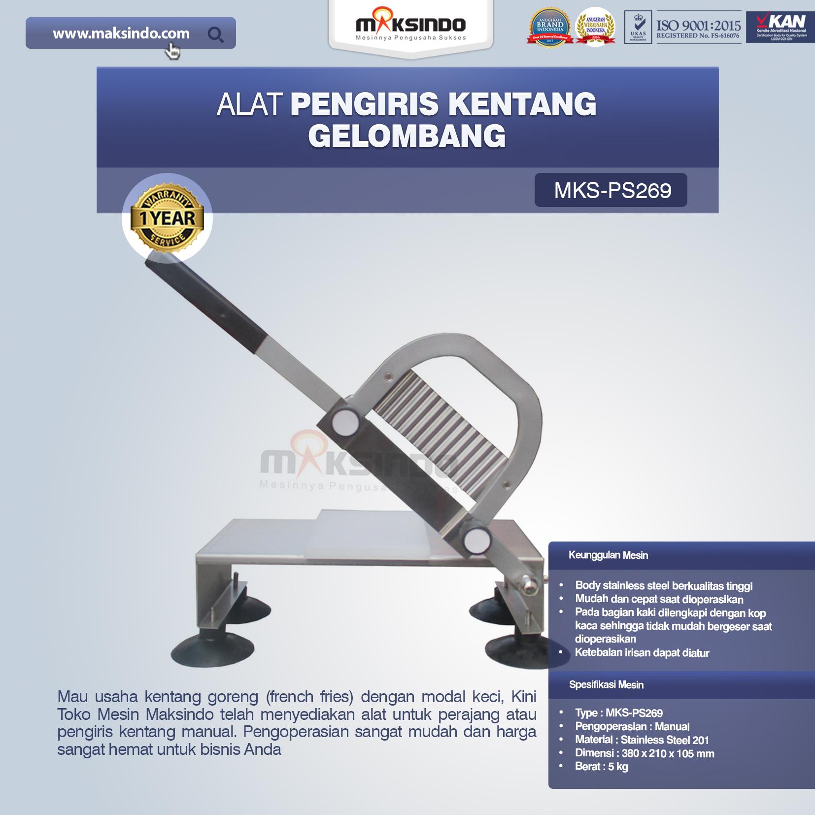 Jual Alat Pengiris Kentang Gelombang MKS-PS269 di Makassar