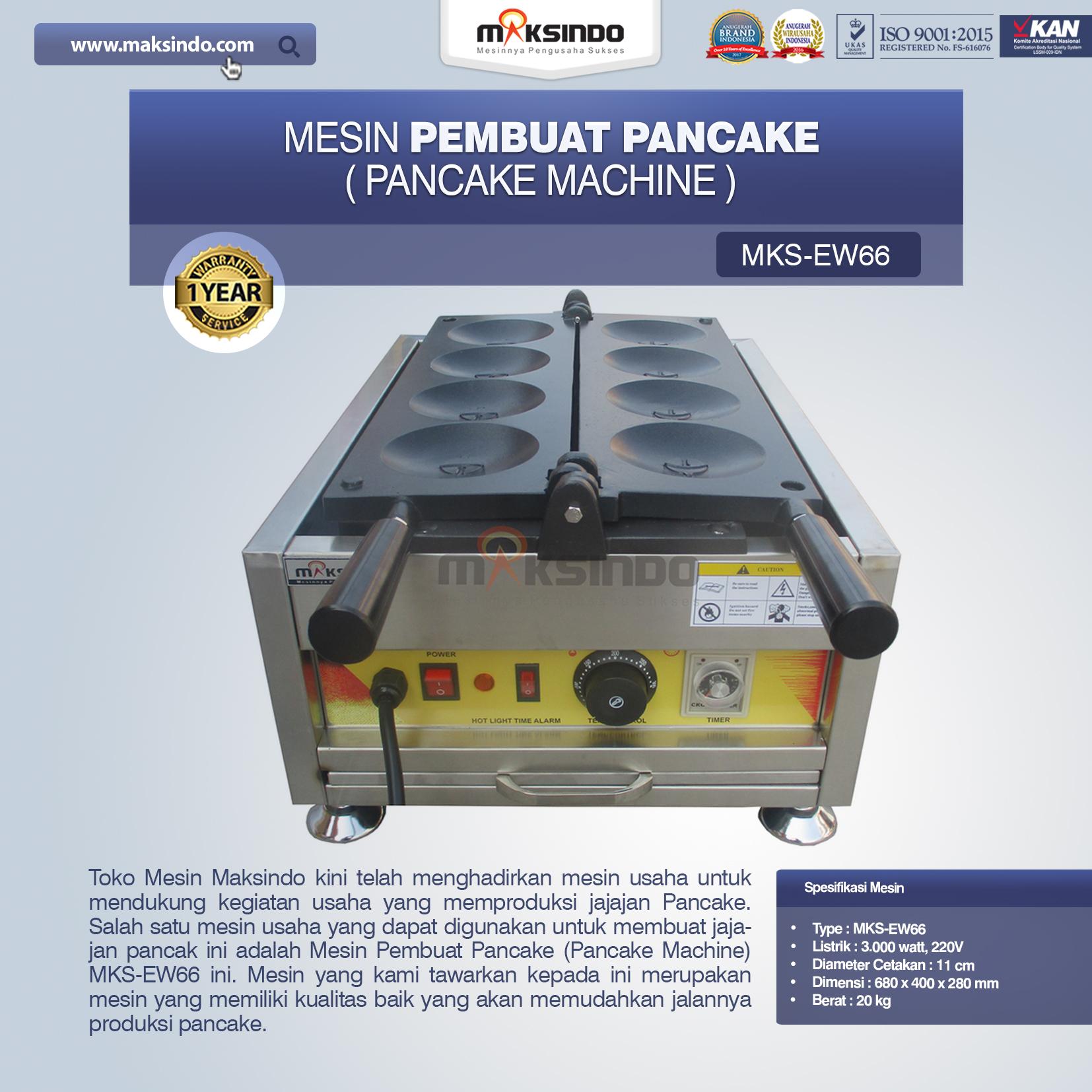 Jual Mesin Pembuat Pancake (Pancake Machine) MKS-EW66 di Makassar
