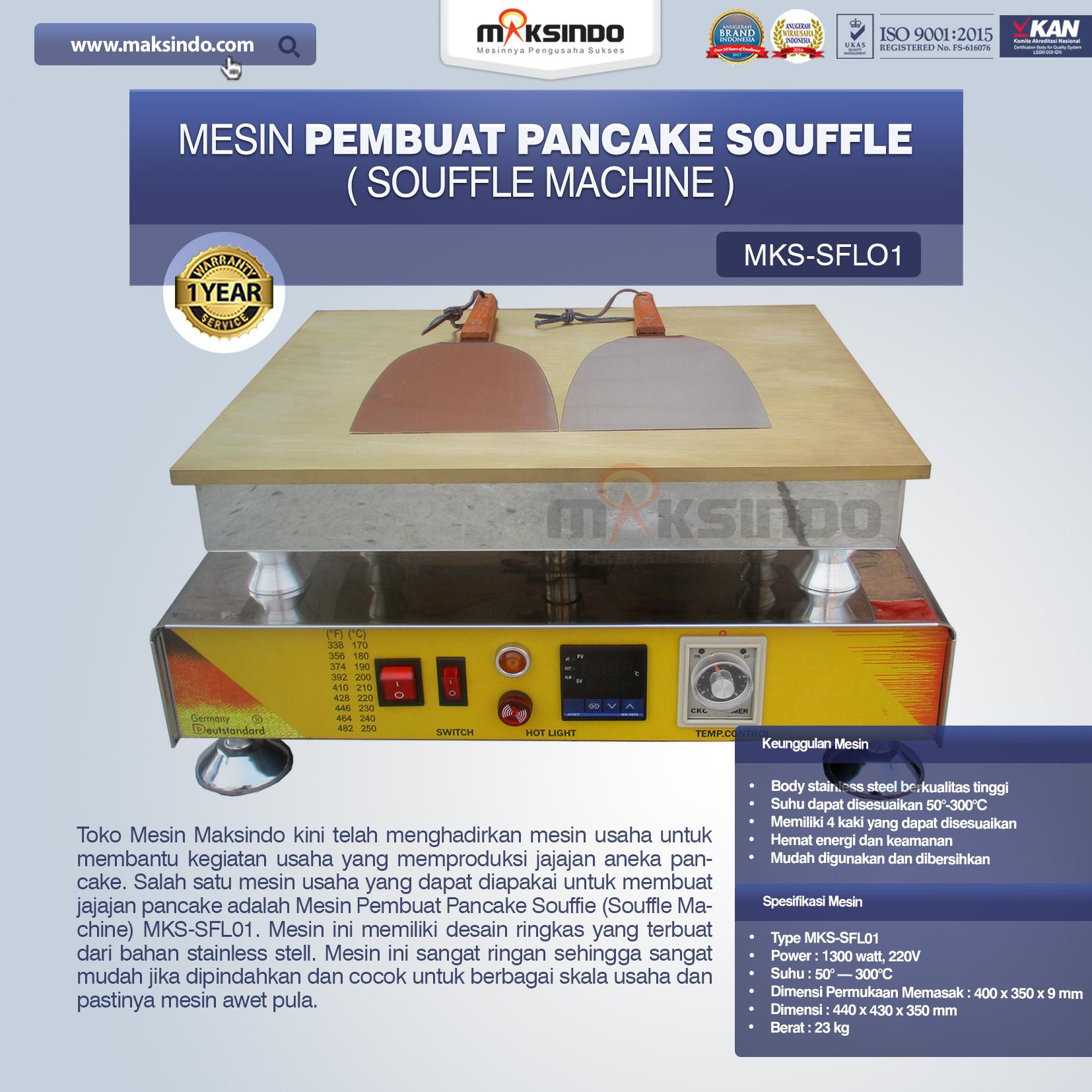 Jual Mesin Pembuat Pancake Souffle (Souffle Machine) MKS-SFL01 di Makassar
