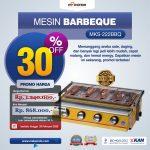 Jual Mesin Pemanggang Sate – BBQ 3 Tungku (Gas) MKS-369BBQ di Makassar