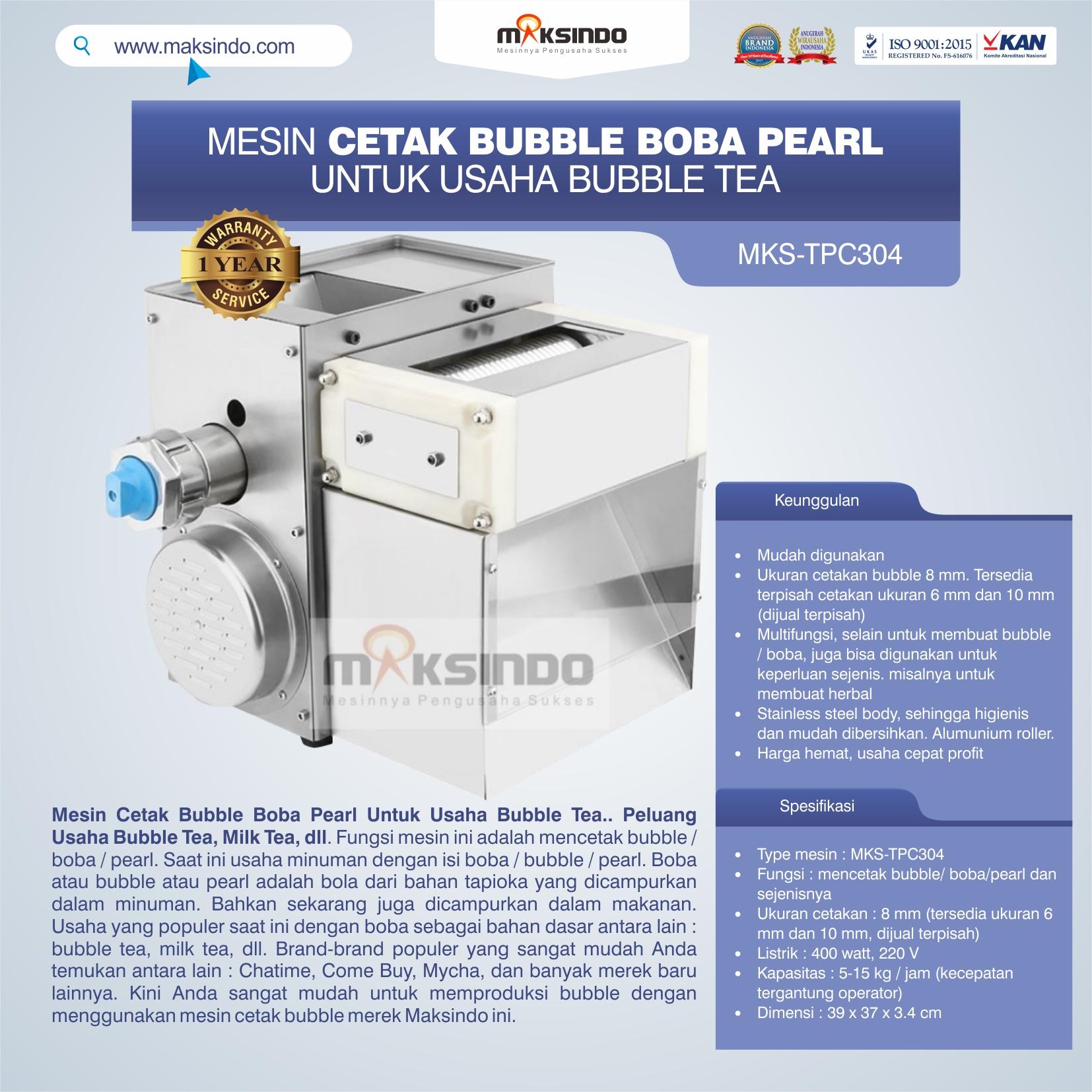 Jual Mesin Cetak Bubble Boba Pearl Untuk Usaha Bubble Tea di Makassar