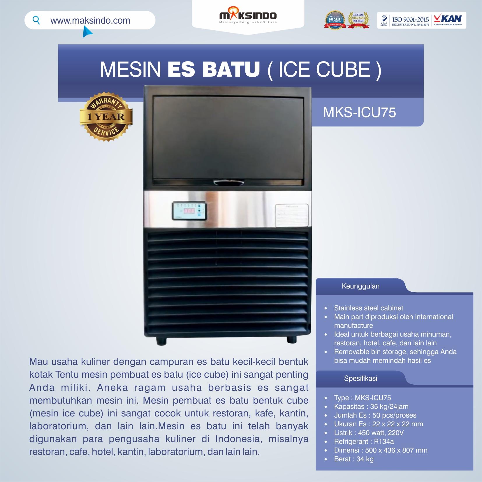 Jual Mesin Es Batu Ice Cube (ICU-75) di Makassar