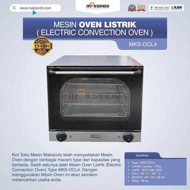 Jual Mesin Oven Listrik (Electric Convection Oven) MKS-OCL4 di Makassar