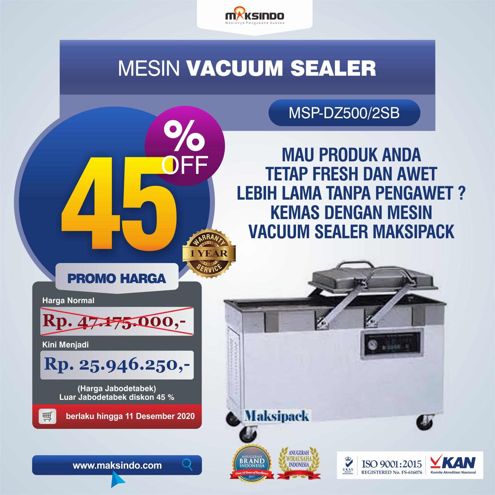 Jual Mesin Vacuum Sealer (DZ500/2SB) di Makassar