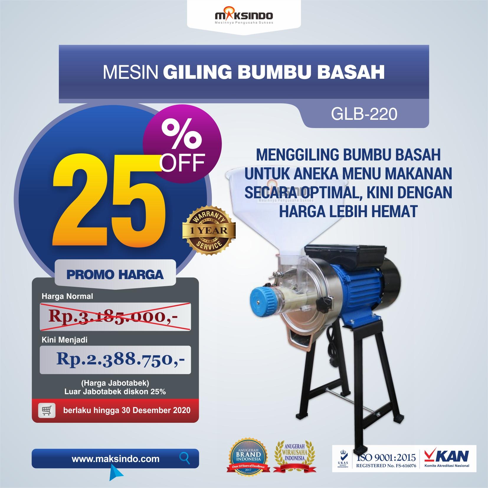 Jual Mesin Giling Bumbu Basah GLB220 di Makassar