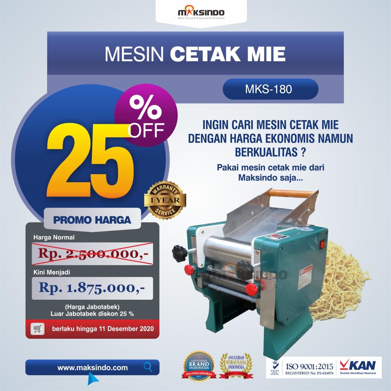 Jual Mesin Cetak Mie (MKS-180) di Makassar