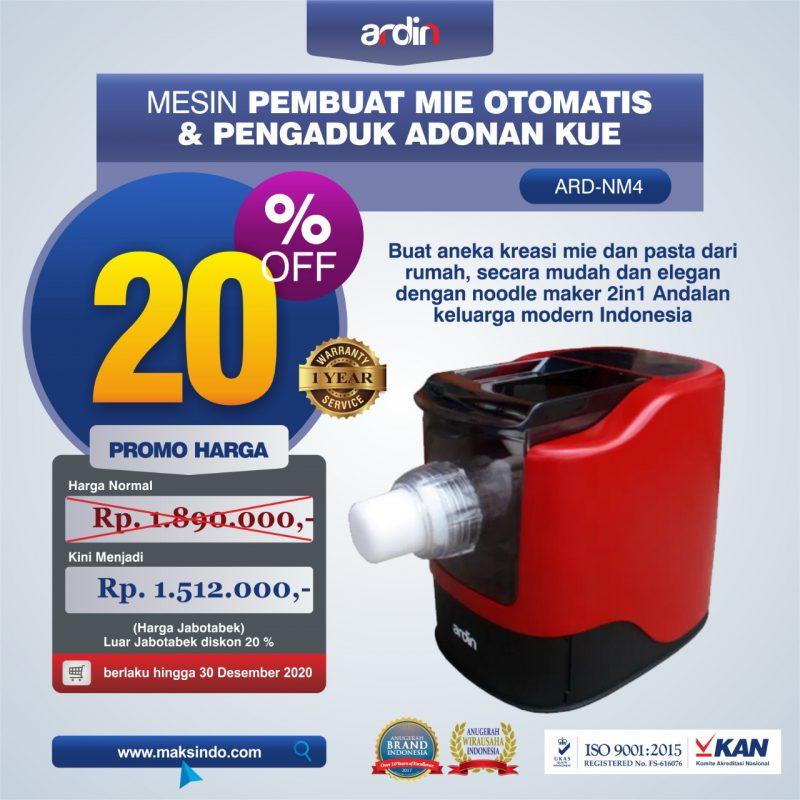 Jual Noodle Maker 2in1 Pembuat Mie Otomatis dan Pengaduk Adonan Kue ARD-NM4 di Makassar