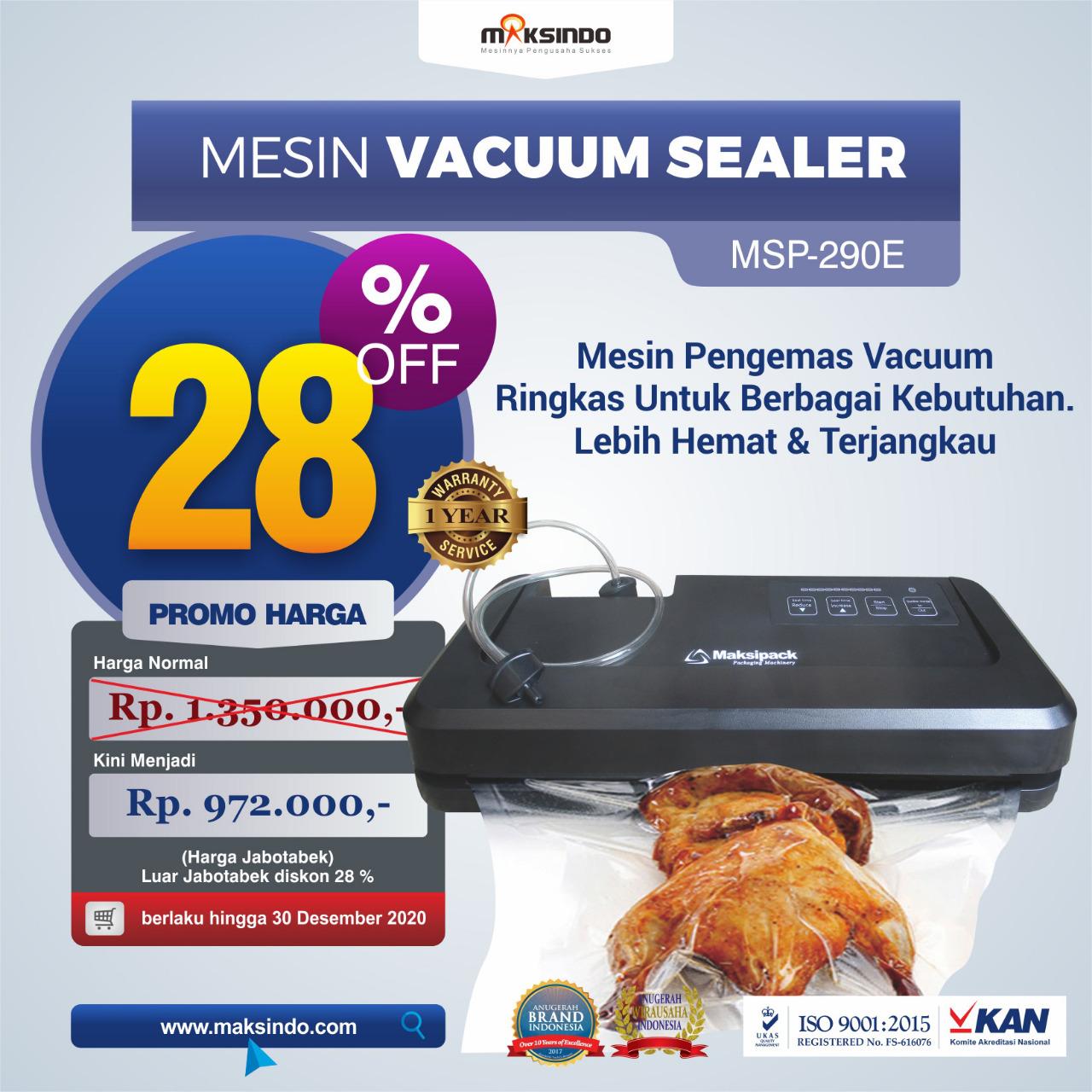Mesin Mesin Vacuum Sealer MSP-290E di Makassar