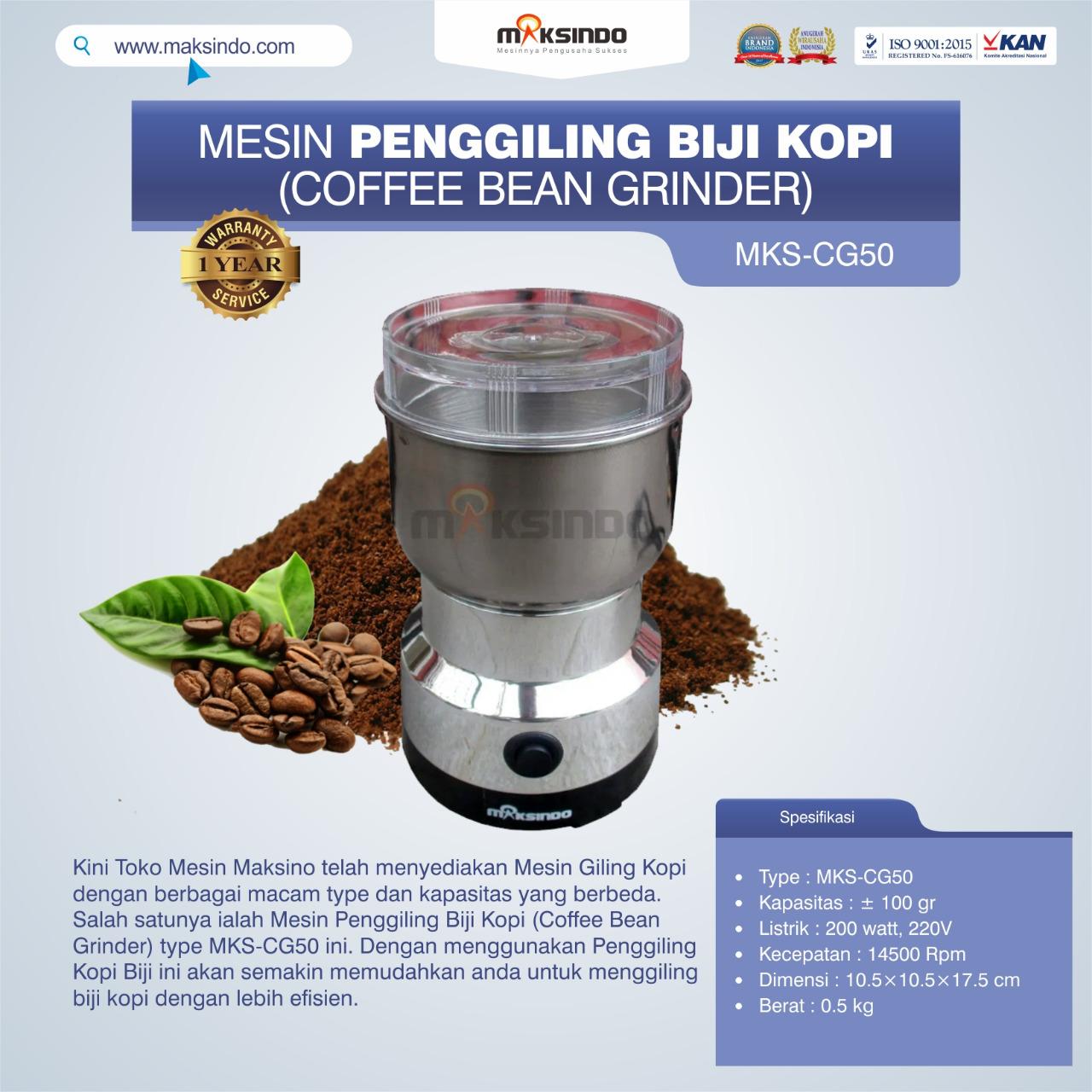 Jual Penggiling Biji Kopi (Coffee Bean Grinder) MKS-CG50 di Makassar