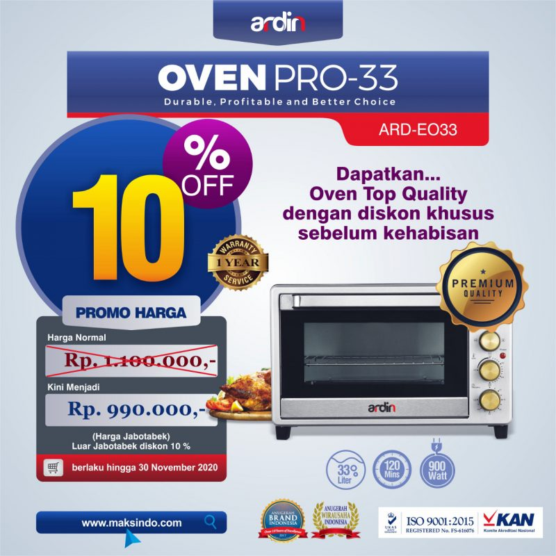 Jual Oven Listrik (Oven Pro-33) di Makassar