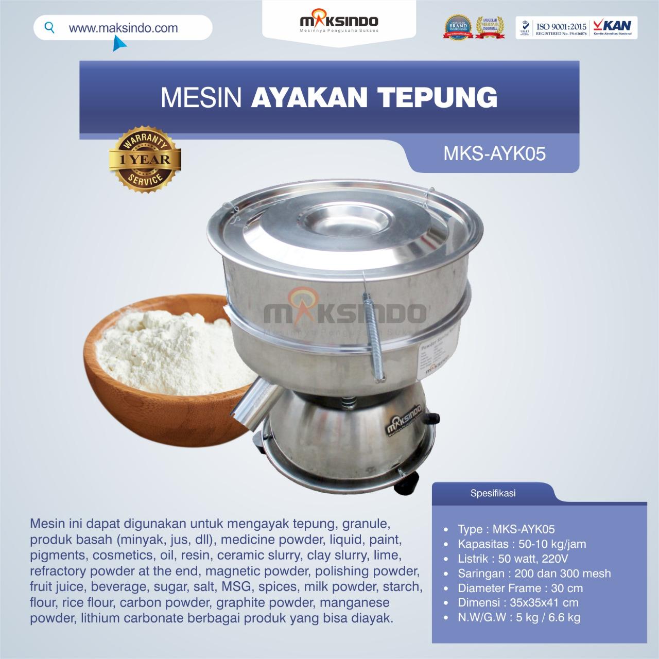 Jual Mesin Ayakan Tepung MKS-AYK05 di Makassar