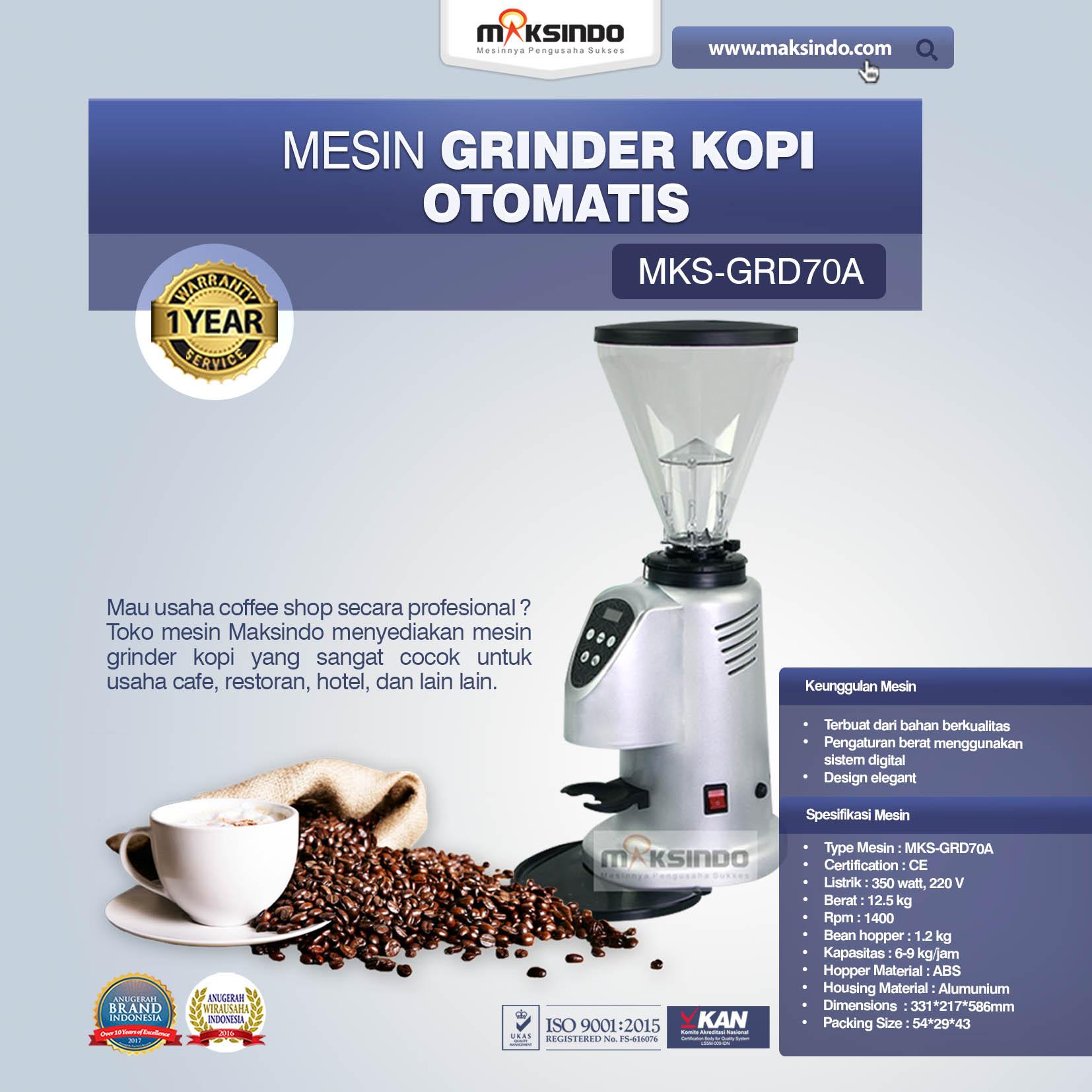 Jual Mesin Grinder Kopi Otomatis – MKS-GRD70A di Makassar