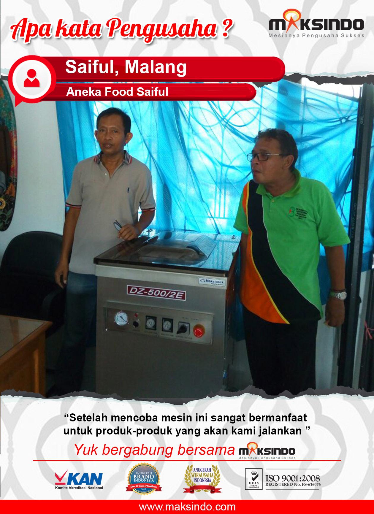 Aneka Food Saiful : Mesin Vacuum Sealer Maksindo Bermanfaat