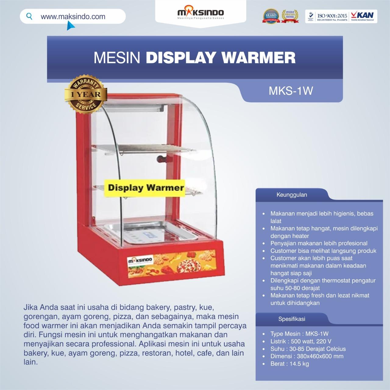 Jual Mesin Diplay Warmer (MKS-1W) di Makassar