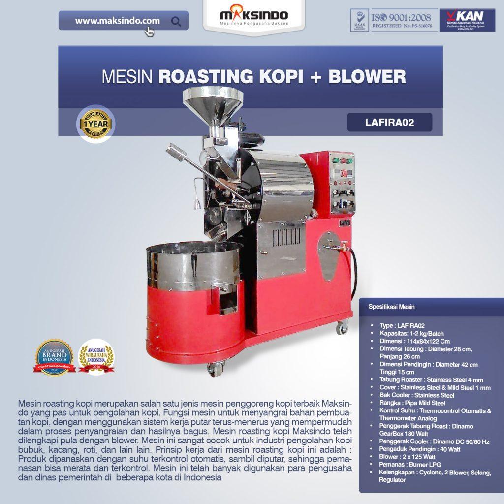 Jual Mesin Roasting Kopi + Blower Lafira 02 di Makassar