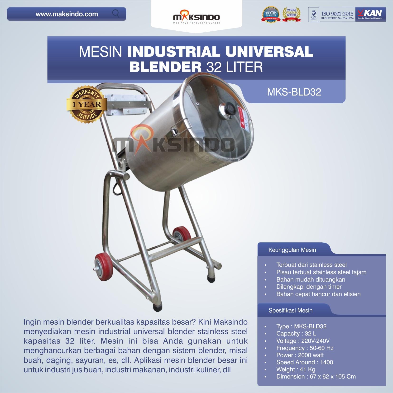 Jual Industrial Universal Blender 32 Liter di Makassar