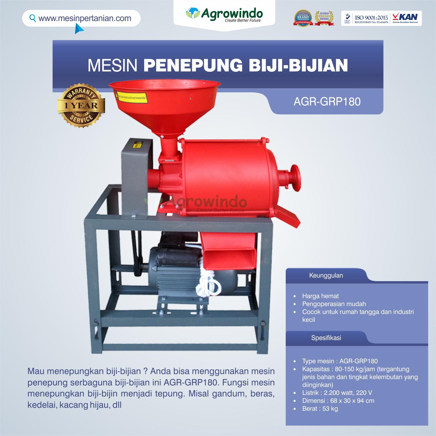 Jual Mesin Penepung Biji-Bijian GRP180 di Makassar
