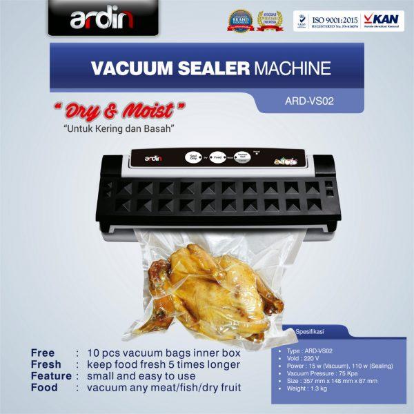 Jual Mesin Vacuum Sealer VS02 Ardin (basah dan kering) di Makassar