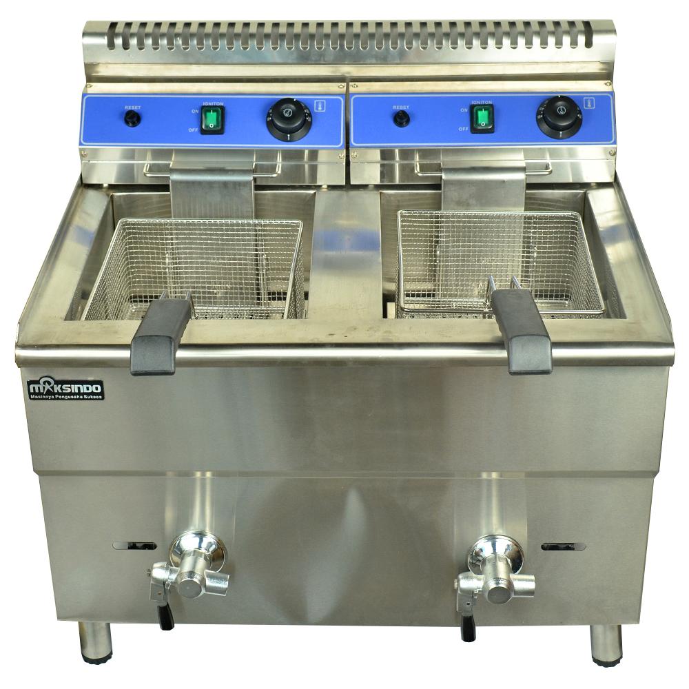 Jual Mesin Gas Fryer 34 Liter (MKS-182) di Makassar