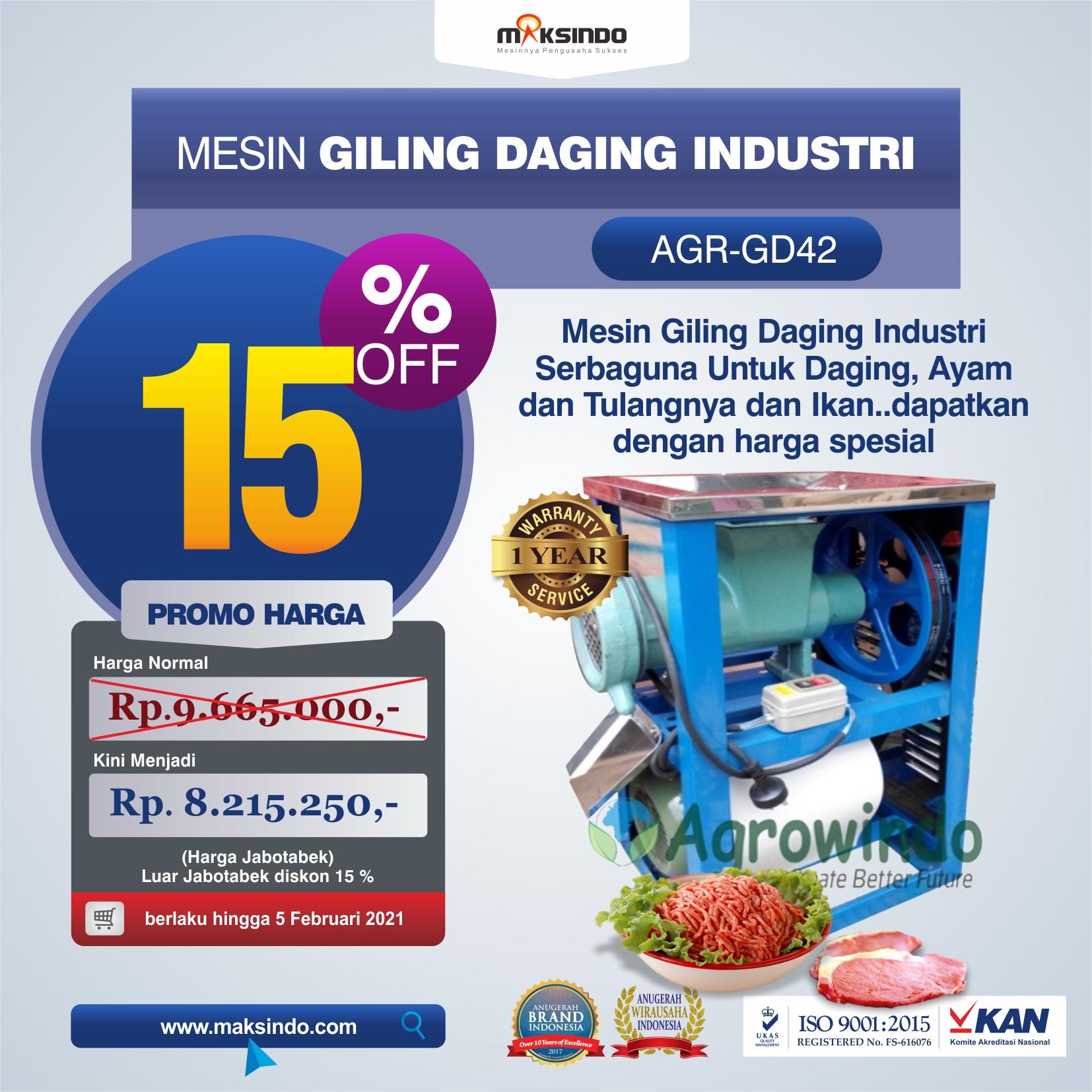 Jual Mesin Giling Daging Industri (AGR-GD42) di Makassar