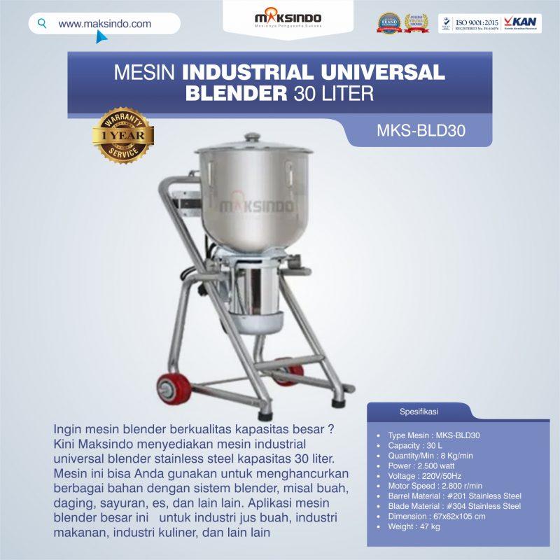 Jual Industrial Universal Blender 30 Liter MKS-BLD30 di Makassar