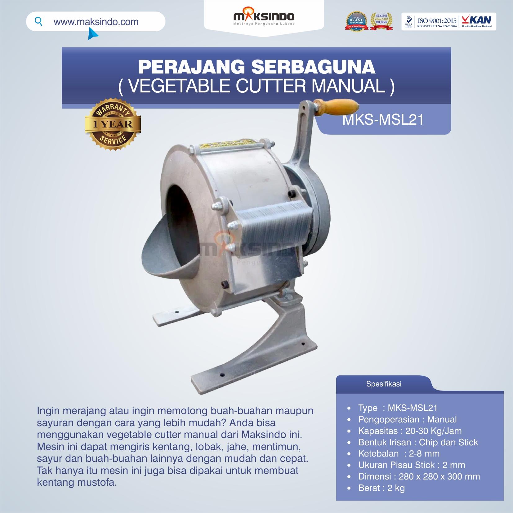 Jual Vegetable Cutter Manual MKS-MSL21 Di Makassar